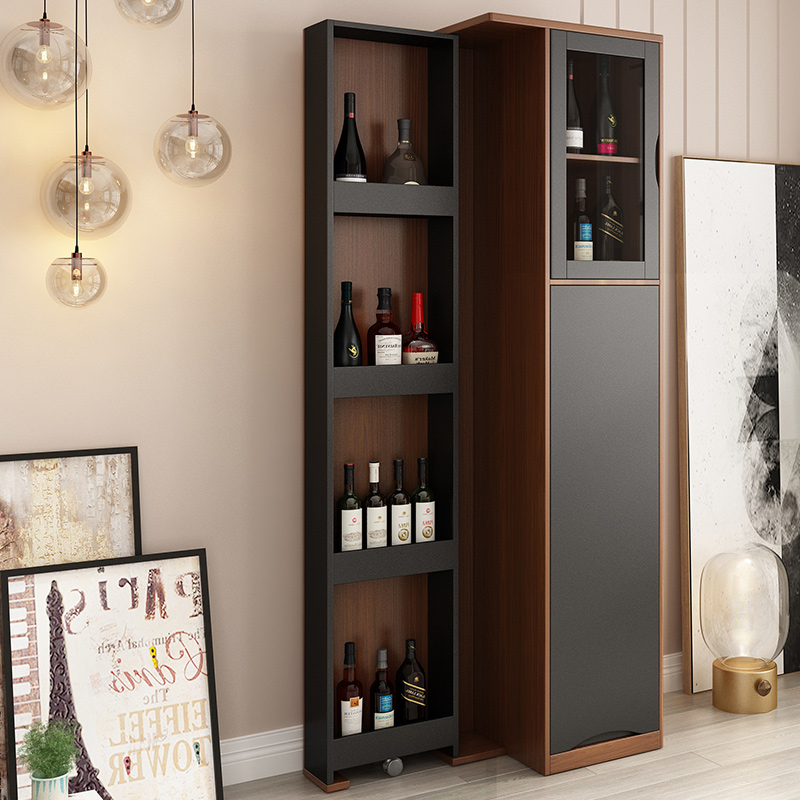 Nordic Modern Telescopic Rotating Wine Cabinet Living Room Bar Parion Porch Storage