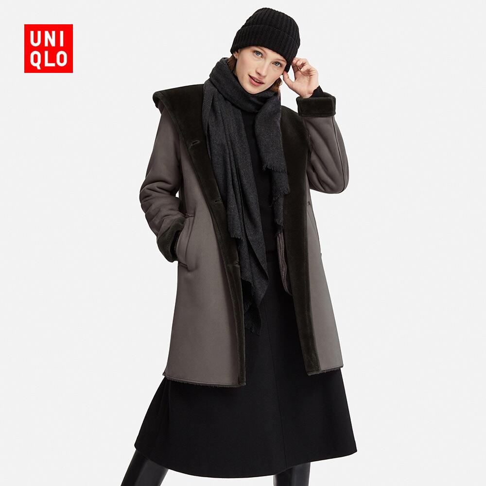 女装 仿皮连帽大衣 409857 优衣库UNIQLO