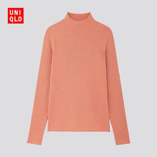 Трикотаж,  Отлично одежда склад женщины смешивание ребро высокий воротник свитер ( длинный рукав ) 422916 UNIQLO, цена 1527 руб