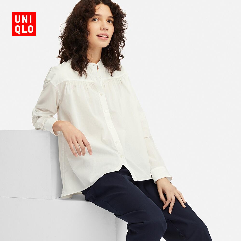 女装 全棉立领上衣(长袖) 411019 优衣库UNIQLO