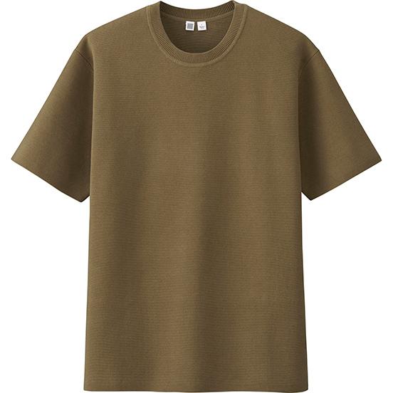 U罗纹圆领针织衫(短袖)