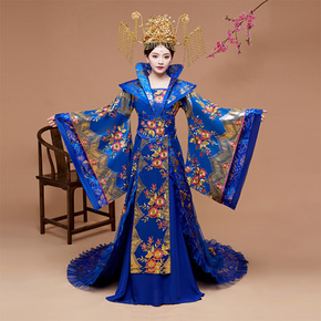 Ancient women's Hanfu and imperial concubine's clothing tailing the Tang Dynasty ancient empress and Princess Palace's wide sleeve Chinese summer performance dress