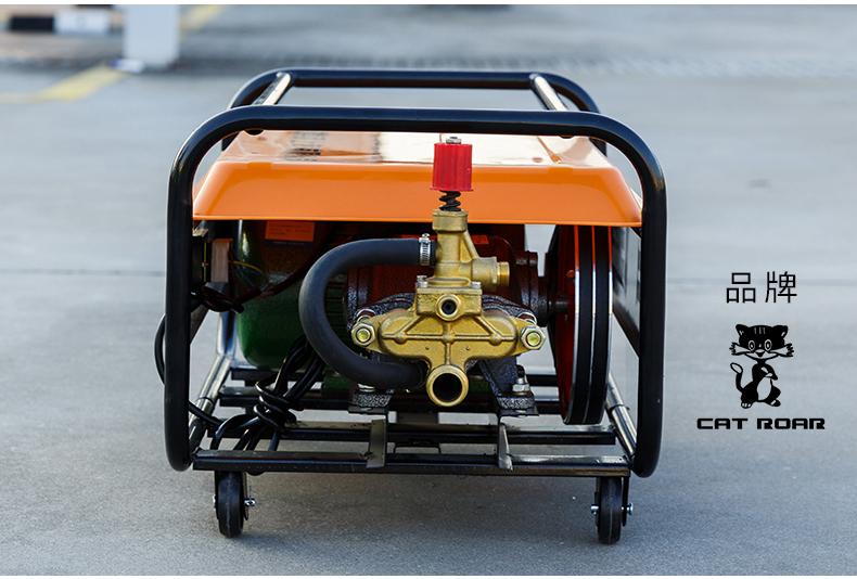 包邮高压商用清洗机型商用洗车场电动洗车机自吸全铜水枪详细照片
