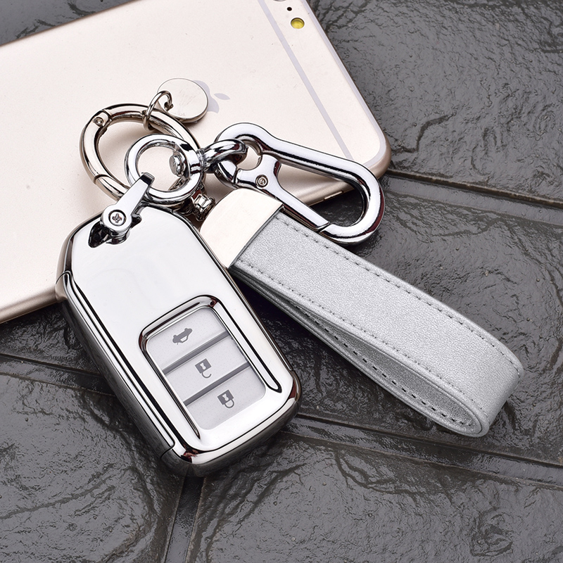 Honda All-inclusive Key Set [platinum Silver Single Shell + Silver Double Buckle]