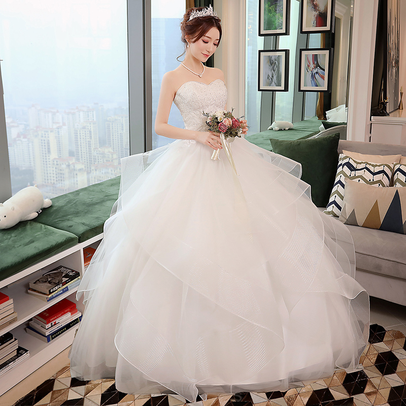 Sen Department of wedding dress 2018 new simple tube top fantasy ...