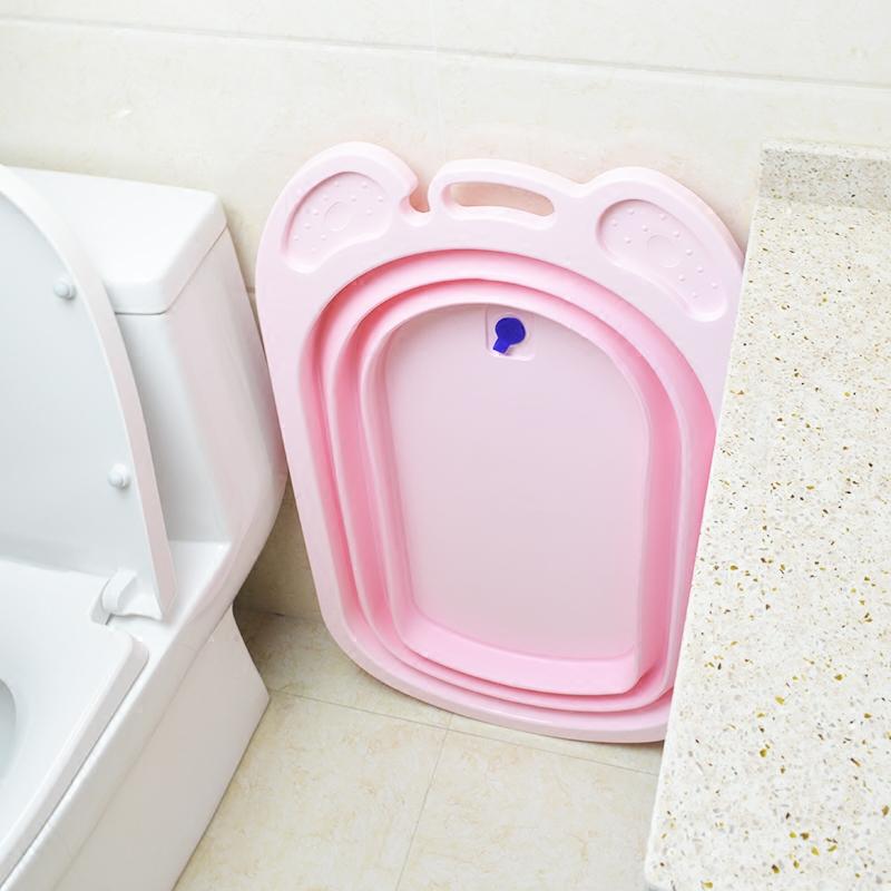 USD 58.30] Baby bath tub baby folding Bath basin the neonatal wash ...