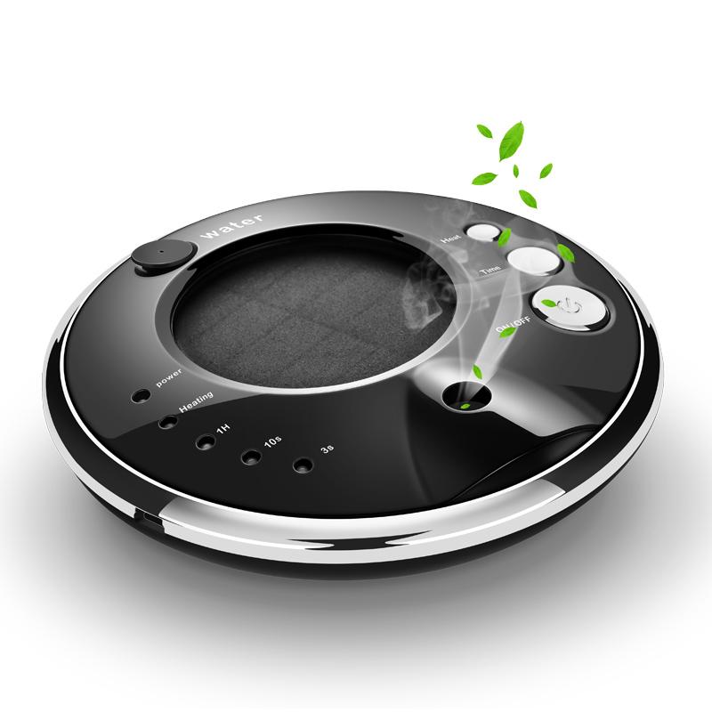 太阳能车载空气净化器汽车内用负离子氧吧消除异味喷雾香薰加湿器
