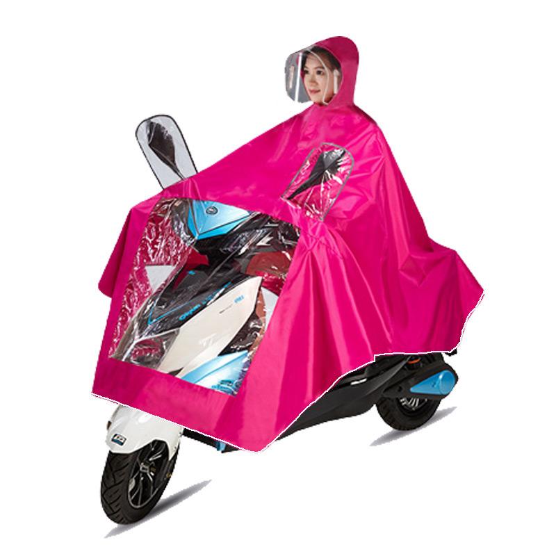 麦雨头盔雨衣摩托车电动车电瓶车雨披男女士成人加大加厚单人骑行