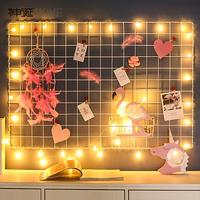 Ins сетка Фото стена проста поколение Железная рама, настенная подвеска, железная рамка-клипса, подвесная фото-отделка стен