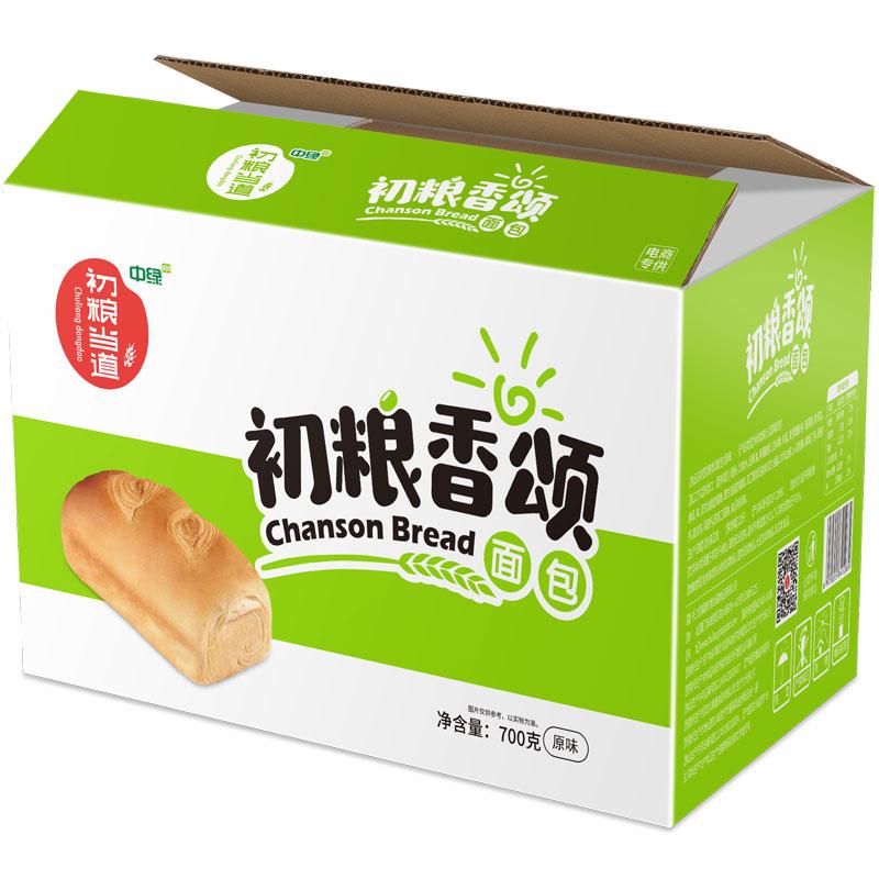 刘涛代言:中绿粗粮王 香颂原味面包700g