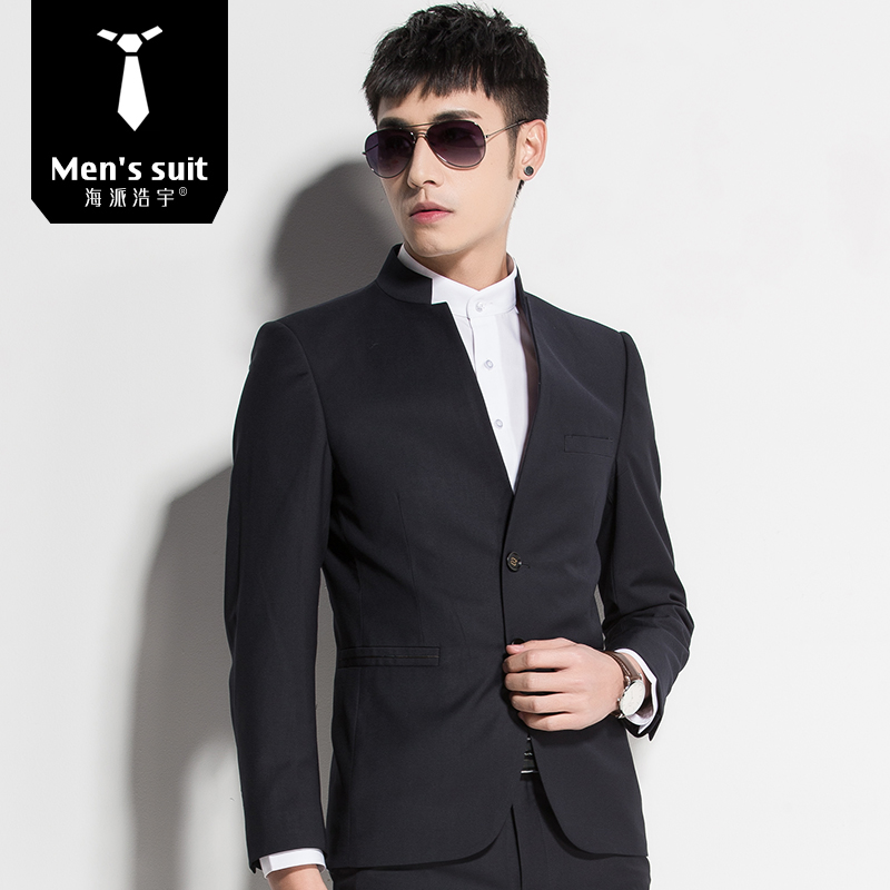 unparalleled factory outlet clearance Stand collar suit suit men's Chinese Suit Suit business casual suit suit  groom wedding dress