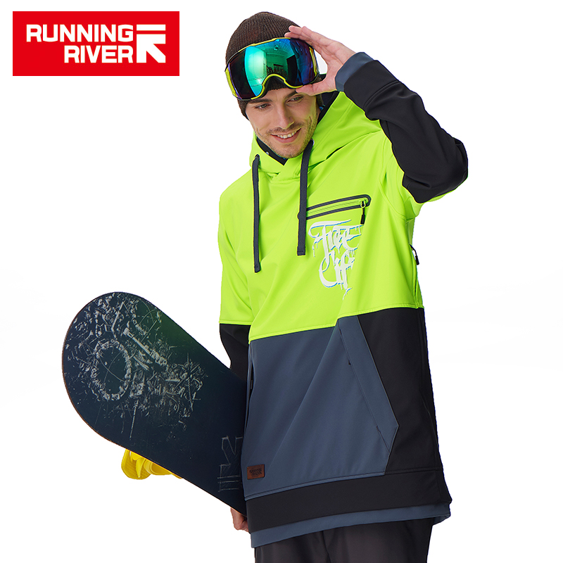 RUNNINGRIVER RUNNINGRIVER outdoor single board double board waterproof breathable men's ski clothing soft shell hoodie G6225