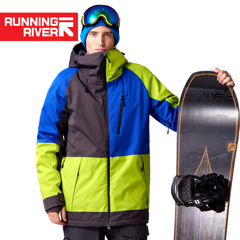 RANRIVER RUN-STREAM MEN'S WIND-PROOF WATERPROOF BREATHABLE IMPACT COLOR SNOWBOARD PROFESSIONAL SKI WEAR N7429N