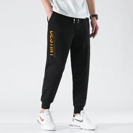 潮男时尚运动休闲九分裤