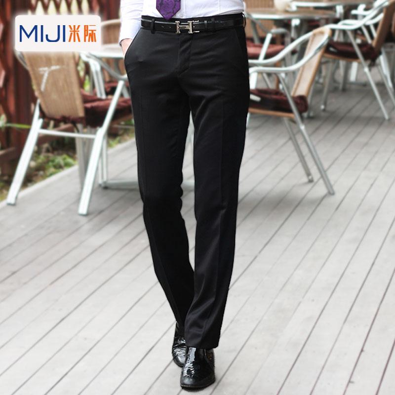 Mùa xuân và mùa thu phù hợp với quần nam kinh doanh quần không bằng sắt Slim Phong cách Hàn Quốc quần nhỏ thời trang quần tây quần nam - Suit phù hợp
