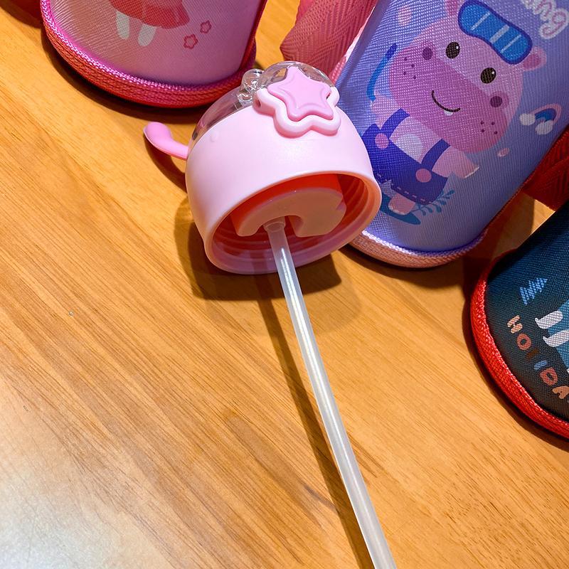 儿童智能保温杯带吸管女学生测温显温不锈钢水杯幼儿园男宝宝杯子详细照片