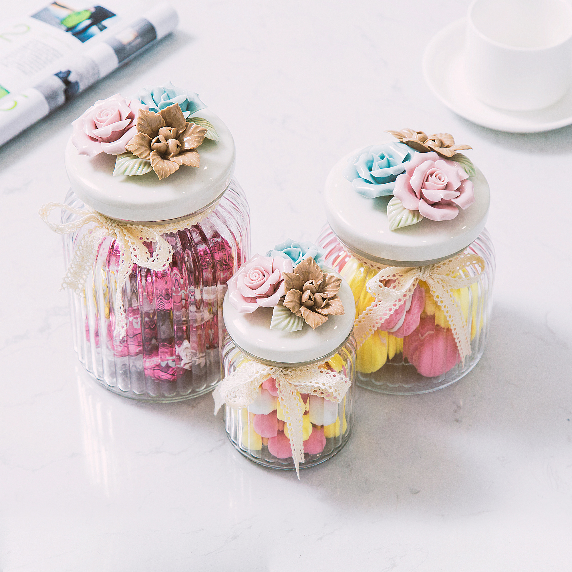 Usd 1299 creative home crafts wedding decoration candy jar glass creative home crafts wedding decoration candy jar glass candy jar sealed storage jar with cover european junglespirit Image collections