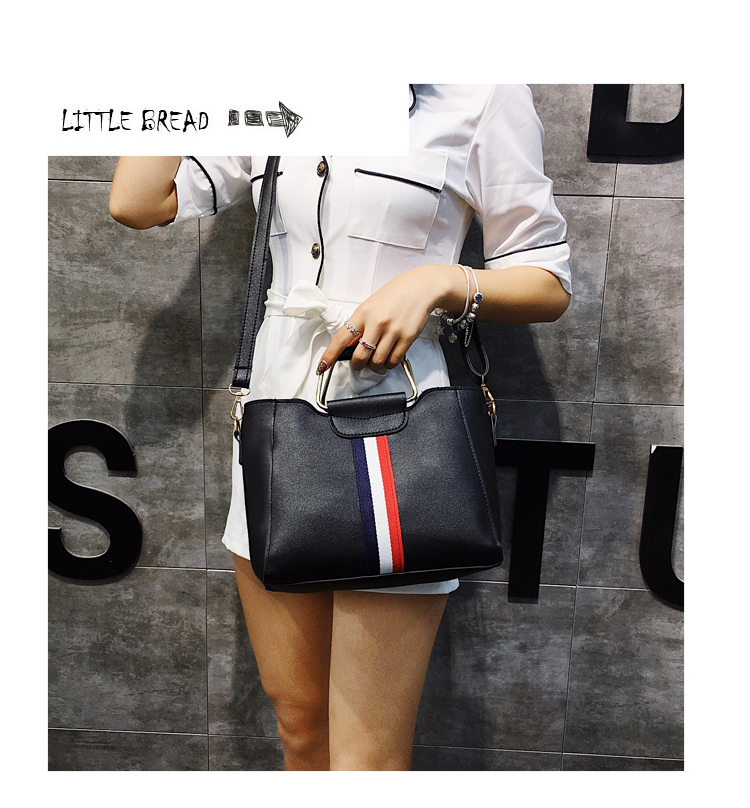 Women Bag Handbag Purse Ladies PU Leather Crossbody Bag 2Pcs/Leisure bag capacity big bag wholesale gray 22x21x10cm 9