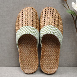 Household slippers summer women's cute home deodorant non-slip cotton and varni soft soft bottom ya wagon men's indoor