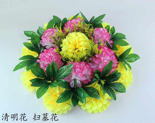Usd 779 silk flower qingming flower simulation chrysanthemum large silk flower qingming flower simulation chrysanthemum large wreath tomb flower ritual decoration flower cemetery flower cheap mightylinksfo