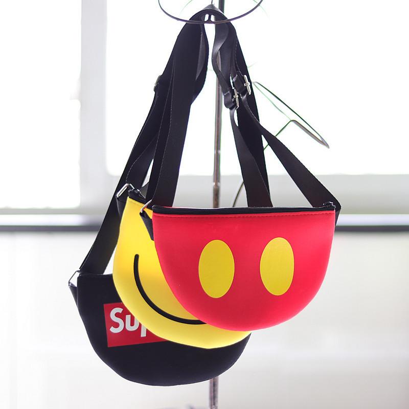 Ребенок сумка женщина мини пакет волна новый человек ребенок мешки декоративный ребенок карман кошелек улыбка грудь пакет