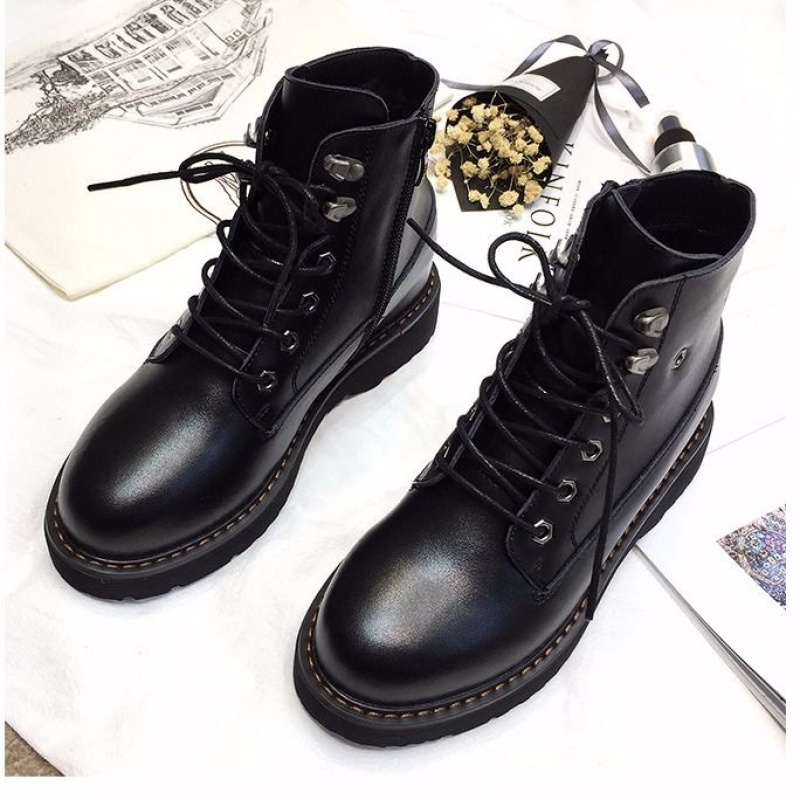 Martin boots female British wind 2019 summer and autumn new boots thick wild students increased ins boots cotton shoes
