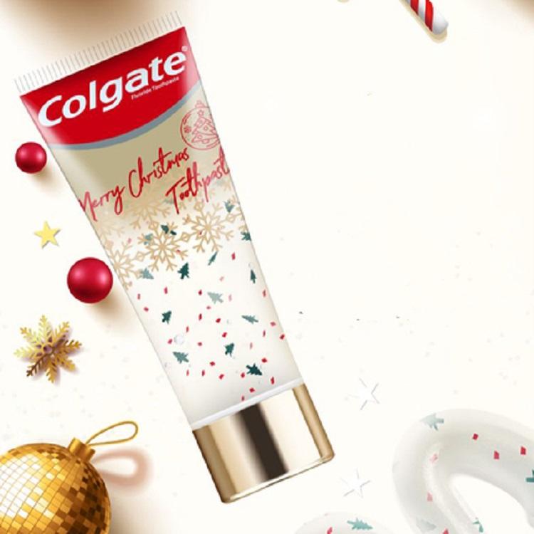 {薇娅推荐}高露洁圣诞礼品牙膏情侣表白礼物去口臭黄牙垢限定款