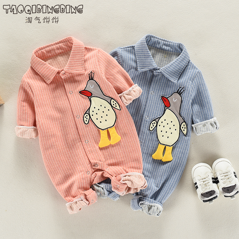 Men's and women's baby baby onesies, clothes, spring, newborn, spring, infant, baby, climbing, clothing, 0-1 years old