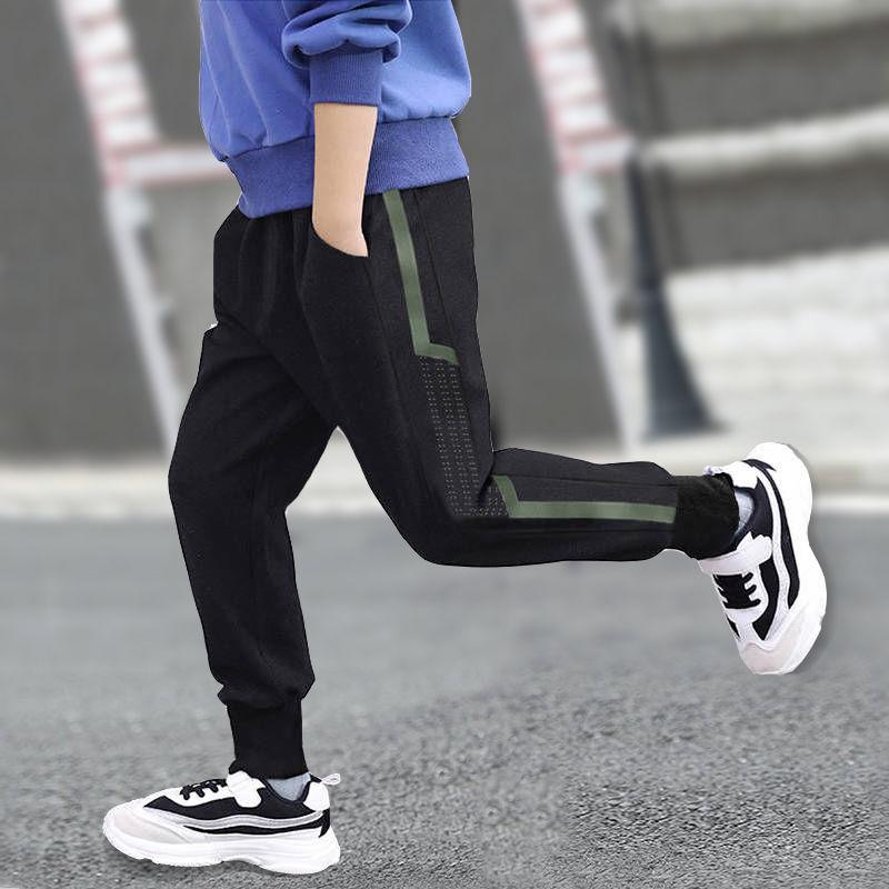 儿童秋冬装外穿加绒十岁男童6小学生7休闲运动裤8男孩厚款长裤子9