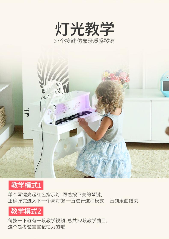 电子琴儿童初学者小钢琴带话筒可弹奏家用入门婴幼玩具女孩岁详细照片