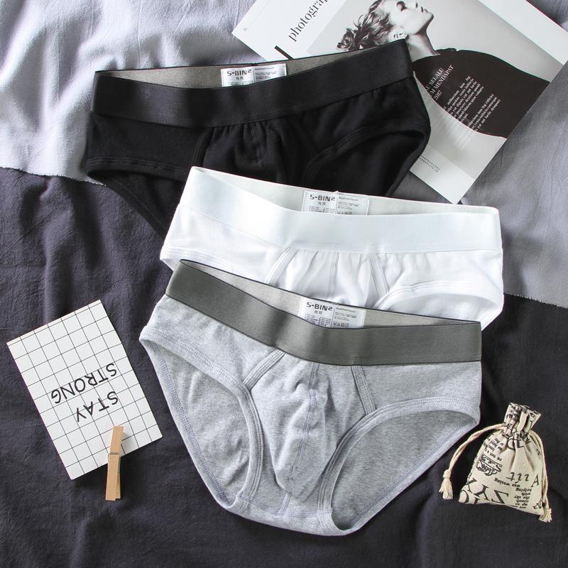 Ông Mo Yan đồ lót nam tóm tắt cotton gợi cảm vòng eo thấp màu trắng rắn màu quần short nam chăm sóc bìu thủy triều - Vòng eo thấp