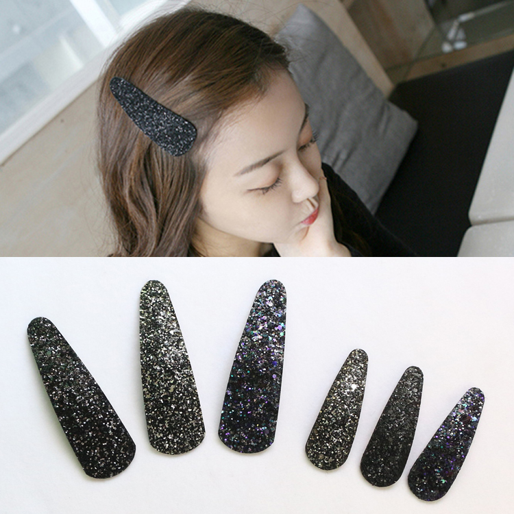 Korean adult sequins BB clip edge clip wild hairpin Japan and South Korea ladies temperament size bangs clip top clip hair accessories