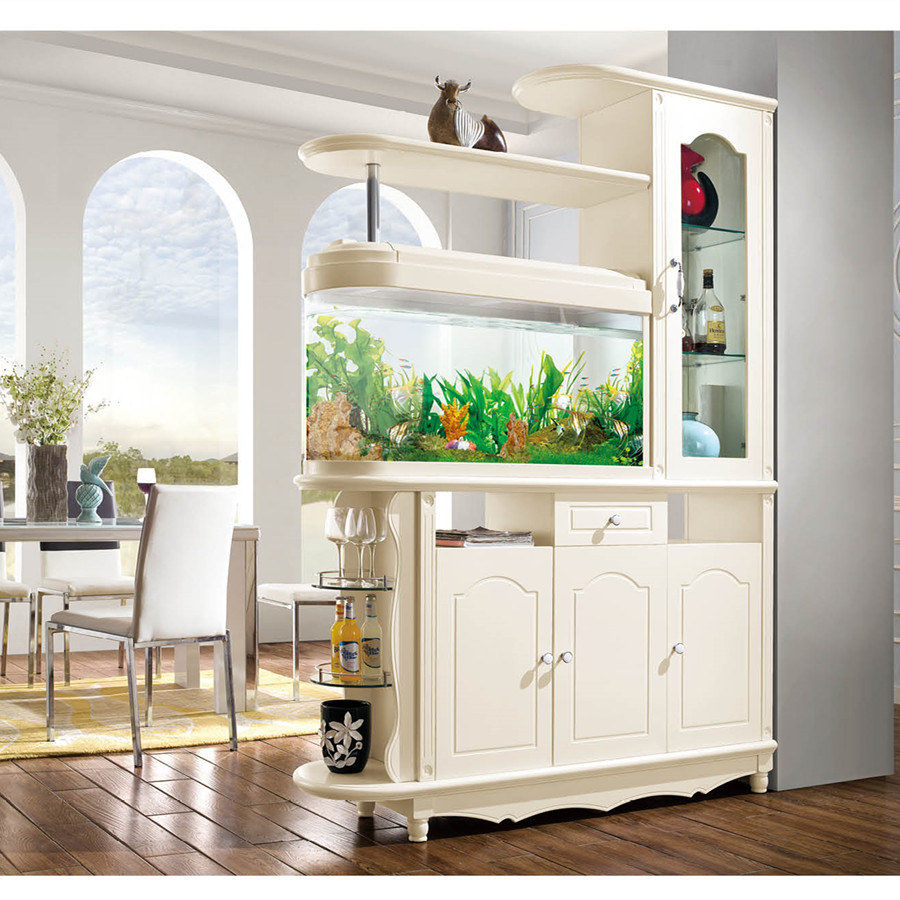 USD 620.18] European pastoral the fish tank off the Cabinet between ...