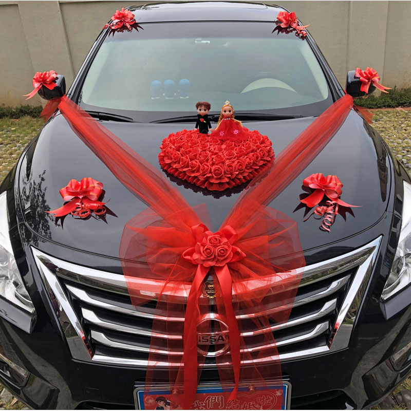 Welcome door main wedding car decoration front flower wedding creative wedding supplies front car float decoration simple layout