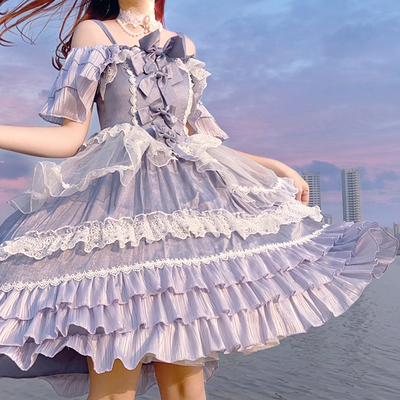 taobao agent 【Full pre-sale】Xing Fu Song original lolita sparkling foam sweet and elegant flower wedding OP dress
