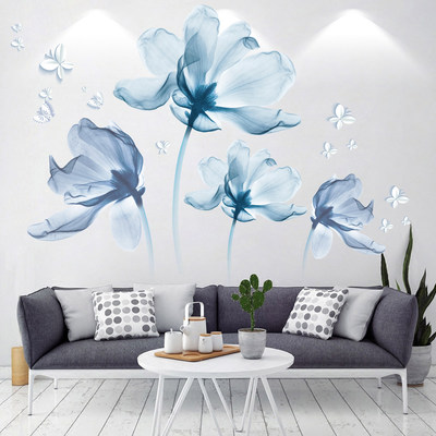 3D stereo wall sticker bedroom bedside sofa wall decoration stickers room warm background wall painted self-paste