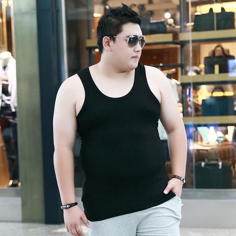 大码背心男夏季加肥加大码男士胖子肥佬莫代尔薄款宽松棉打底汗衫