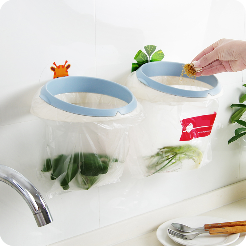 Usd 8 07 Creative Bathroom Unmarked Sticker Garbage Rack Kitchen Sink Next To Garbage Bag Rack Plastic Wall Hanging Trash Can Rack Wholesale From China Online Shopping Buy Asian Products Online