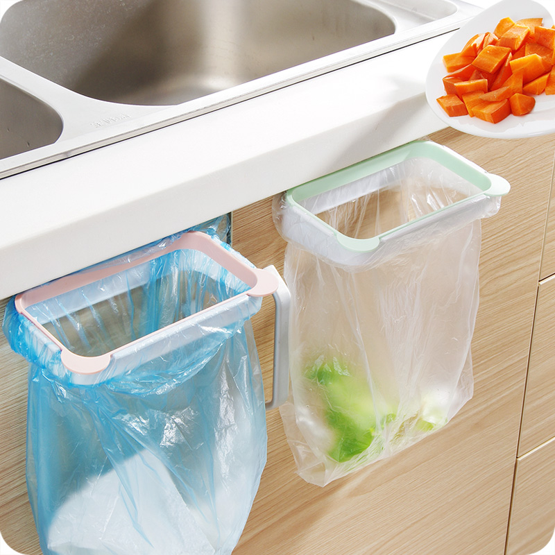 Can Be Linked To The Kitchen Cabinet Door Back Garbage Rack Bag Storage Plastic