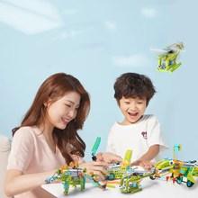 途道(tudao)电动机器人儿童益智积木拼装男女玩具机械大师教育版