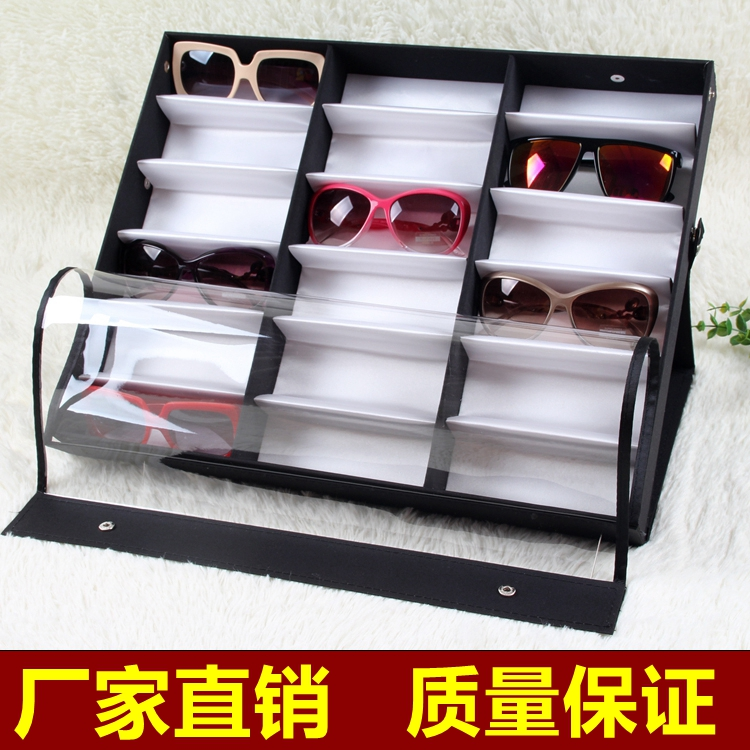 18 Grid Glasses Storage Box Glasses Display Box Sunglasses Shelf Counter  Display Stand Display Box