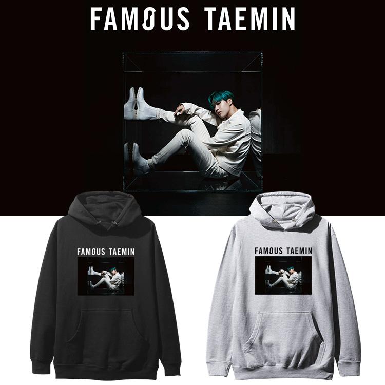 SHINee李泰民TAEMIN周边FAMOUS专辑应援同款卫衣套头连帽衫加绒薄