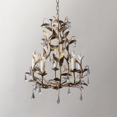 American retro flower chandelier leaf chandelier personality cloakroom French princess bedroom girl room chandelier