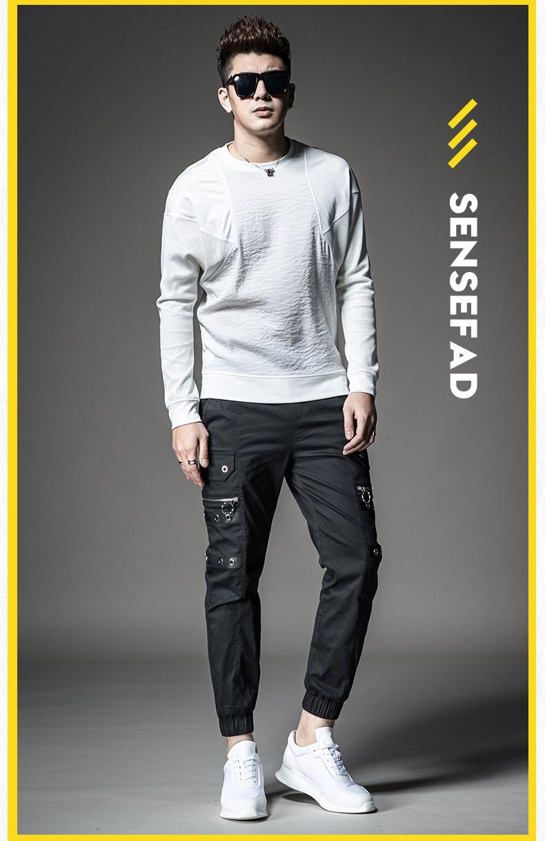 SXF Saint Xi Fan mùa xuân và mùa hè quần âu của nam giới chùm chân guard quần cá tính khâu harem quần nam mới yếm triều