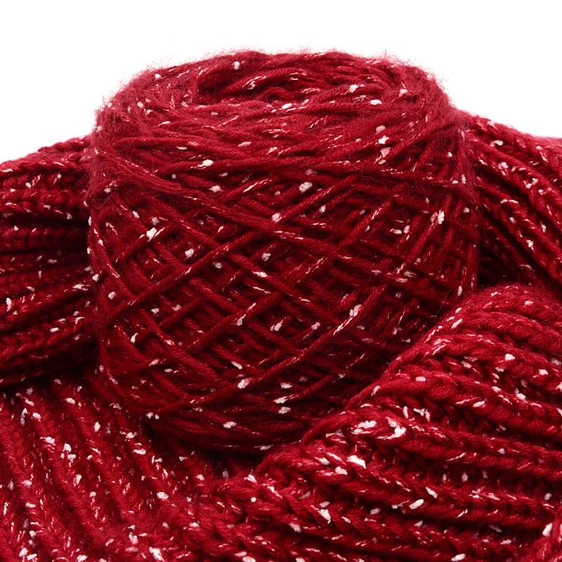 【绒达飞】雪花线编织围巾线粗毛线