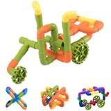 水管道积木塑料拼装插4-7益智玩具【 38件送收纳盒】卷后14.9元起包邮