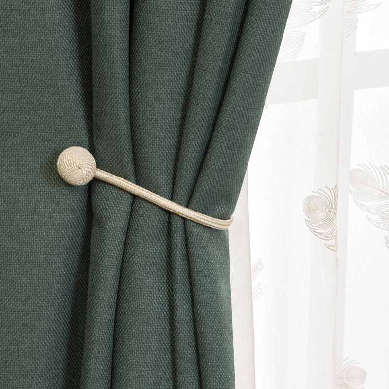 USD 11.70] Simple modern curtain strap living room wild magnet ...