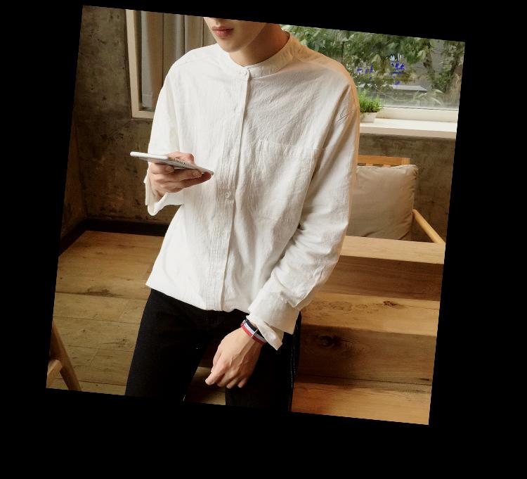 青少年纯色立领衬衫男士休闲纯色衬衣ZC333特价40【不要低于65】