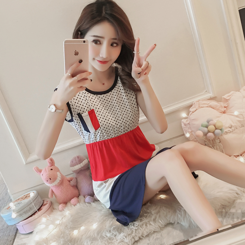 1b2021b9c7db Summer Korean fresh students cotton camisole Princess sleeping skirt women loose  cotton can wear sexy pajamas