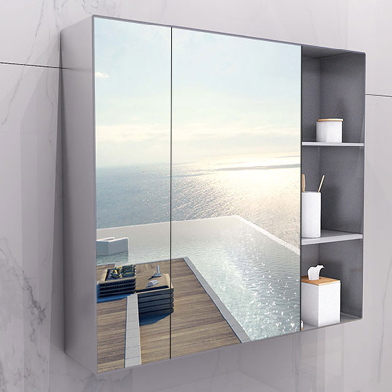 Stainless Steel Bathroom Mirror Cabinet Toilet Storage Toilet Bathroom  Bathroom Mirror Wall Mount With Shelves Wall